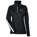 Ladies Under Armour Black Corvette Racing 1/4 Zip