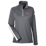 Ladies Under Armour Graphite Corvette Racing 1/4 Zip