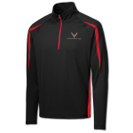 Black/Red Corvette Next Gen Stretch 1/2-Zip Pullover
