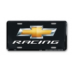 Black Chevrolet Racing License Plate