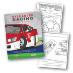Kyle Loves Racing Children's Coloring Book