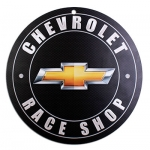 Chevrolet Race Shop Sign Gold BT