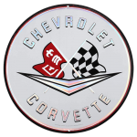 Corvette Heritage Metal Sign
