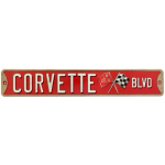 Corvette Blvd Metal Street Sign
