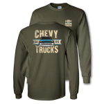 Chevy Trucks Since 1918 Military Green T-shirt