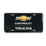 Black Chevrolet Trucks License Plate