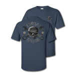 Blue Dusk Mr Crosswrench Chevy Garage T-Shirt