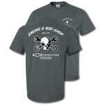 Dark Heather Engine & Rod Shop Mr. Crosswrench T-Shirt