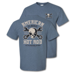 American Classic Hot Rod Mr Crosswrench Heather Indigo T-shirt