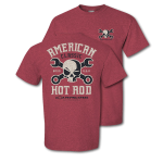 American Classic Hot Rod Mr Crosswrench Heather Cardinal T-shirt