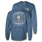Chevy Garage Crosswrench Indigo Blue T-Shirt