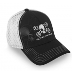 Mr. Crosswrench Black w/white soft mesh Flex Fit Hat