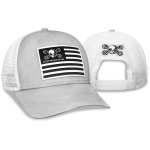 Grey cap white mesh Mr Crosswrench flag patch