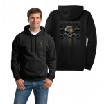 Mr. Crosswrench Black Zip-up hoodie