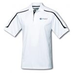 Dealer Personalized White/Black Ultracool Polo