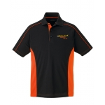 Dealer Personalized Black/Orange Color Block Polo