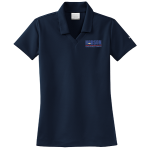 Dealer Personalized Ladies NIKE Golf Dri-Fit Micro Pique Navy