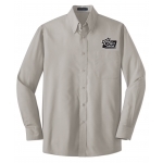 Dealer Personalized Grey L/S Value Poplin Shirt