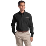 Dealer Personalized Black L/S Value Poplin Shirt
