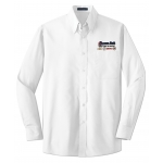 Dealer Personalized White L/S Value Poplin Shirt