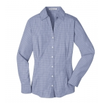Dealer Personalized Ladies' Navy Plaid EZ Care Shirt