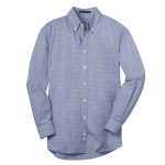 Dealer Personalized Men's Navy Plaid EZ Care Shirt