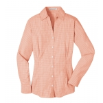 Dealer Personalized Ladies' Orange Plaid EZ Care Shirt