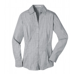 Dealer Personalized Ladies' Charcoal Plaid EZ Care Shirt