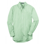 Dealer Personalized Men's Green Plaid EZ Care Shirt