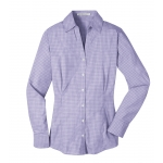 Dealer Personalized Ladies' Purple Plaid EZ Care Shirt
