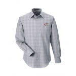 Dealer Personalized Graphite Plaid Button Up Shirt