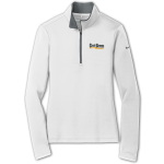 Dealer Personalized Ladies NIKE 1/2 Zip White/Dk Grey