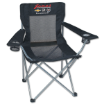 Dealer Personalized Black Mesh Folding Chair w/Carrying Bag