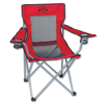 Dealer Personalized Red Mesh Folding Chair w/Carrying Bag