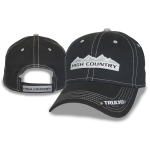 Black Cap Charcoal Under Bill High Country Metal Logo. Velcro