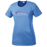 Ladies Milford Proving Ground PosiCharge Tee Carolina Blue