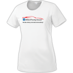 Ladies Milford Proving Ground PosiCharge Tee White