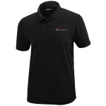 Ladies Milford Proving Ground Black Performance Pique Polo