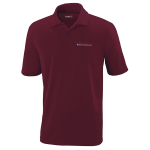 Milford Proving Ground Burgundy Performance Pique Polo