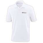 Milford Proving Ground White Performance Pique Polo