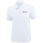Ladies Milford Proving Ground White Performance Pique Polo