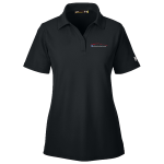 Ladies Milford Proving Ground Under Armour Performance Black Polo