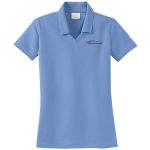 Ladies Milford Proving Ground NIKE Golf Dri-Fit Micro Pique Polo Valor Blue