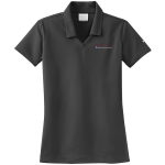 Ladies Milford Proving Ground NIKE Golf Dri-Fit Micro Pique Polo Anthracite Gray