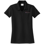 Ladies Milford Proving Ground NIKE Golf Dri-Fit Micro Pique Polo Black