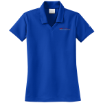 Ladies Milford Proving Ground NIKE Golf Dri-Fit Micro Pique Polo Blue Sapphire
