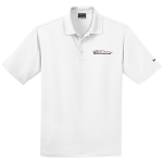Milford Proving Ground NIKE Golf Dri-Fit Micro Pique Polo White