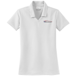 Ladies Milford Proving Ground NIKE Golf Dri-Fit Micro Pique Polo White