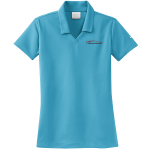 Ladies Milford Proving Ground NIKE Golf Dri-Fit Micro Pique Polo Tidal Blue