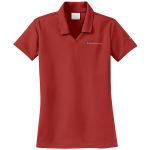 Ladies Milford Proving Ground NIKE Golf Dri-Fit Micro Pique Polo Varsity Red
